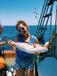 Me, holding a kingfish